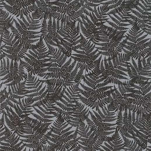 Barna vlies páfránylevél mintás dekor tapéta