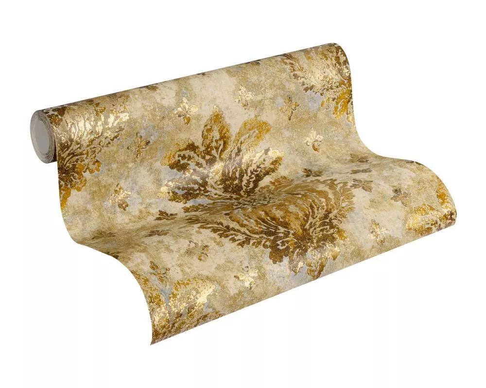 Barokk mintás tapéta bronz, arany színekkel