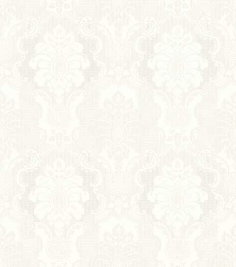 Barokk mintás tapéta, finom ezüst mintás csíkozással