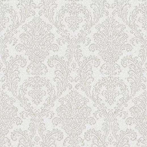 Barokk mintás vlies tapéta törtfehér színvilágban