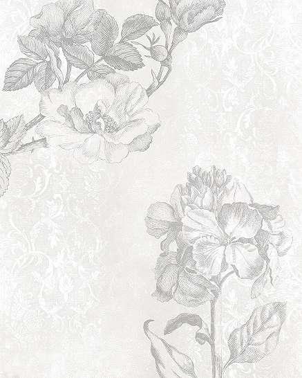 Barokkos hangulatú virágos fali poszter