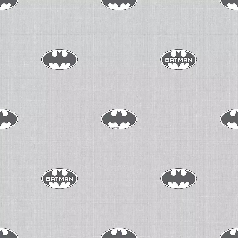 Batman logo mintás tapéta szürke színben