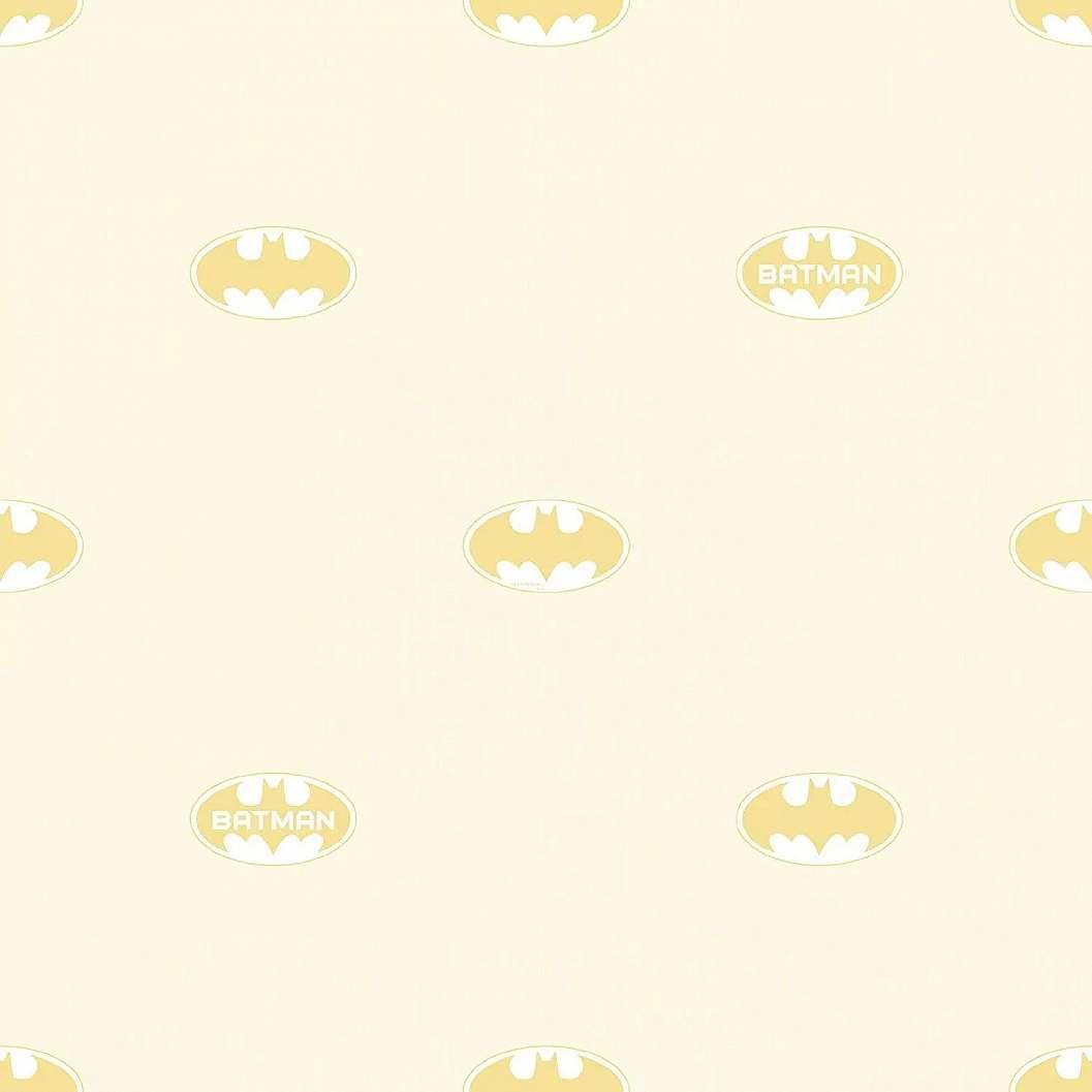 Batman mintás tapéta sárga színvilágban