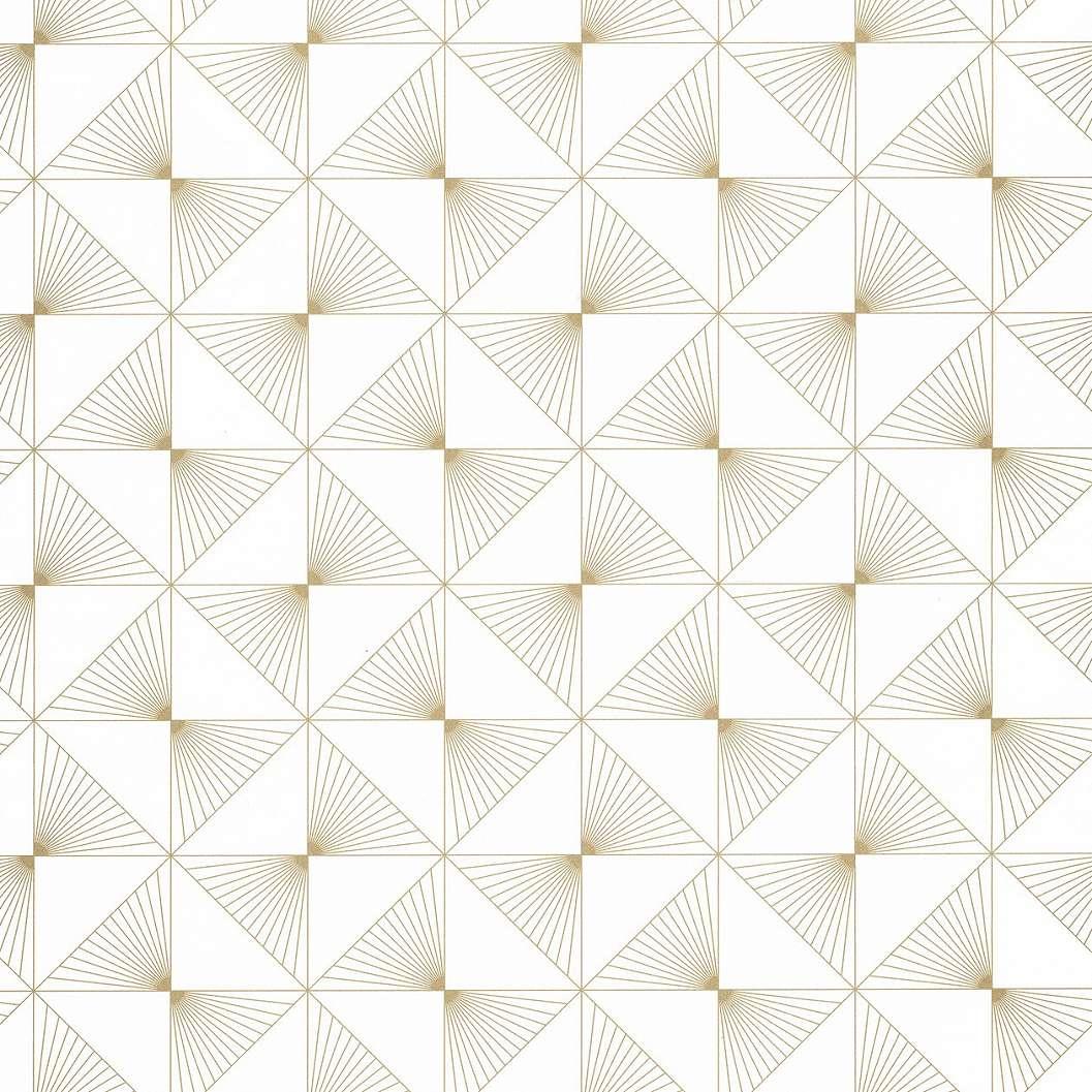 Beige geometriai mintás tapéta