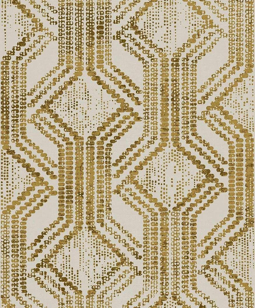Bézs-arany orientális stílusú modern luxus tapéta