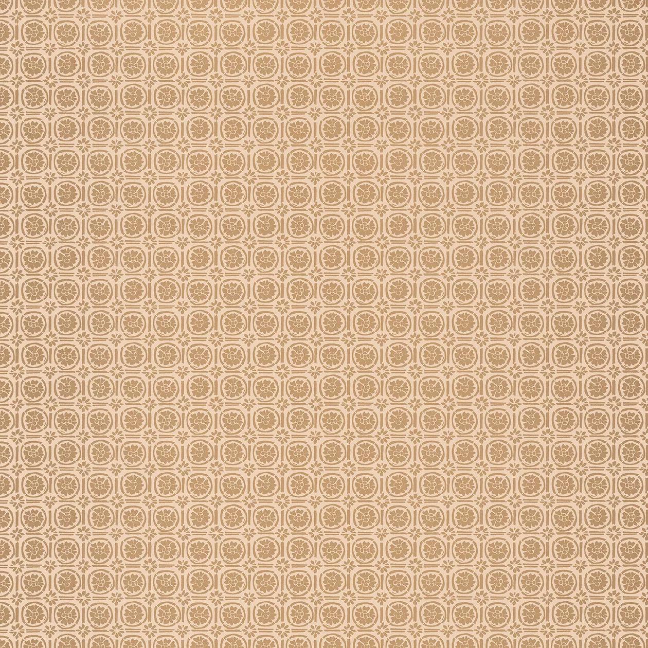 Bézs-arany orientális virágmintás vlies tapéta