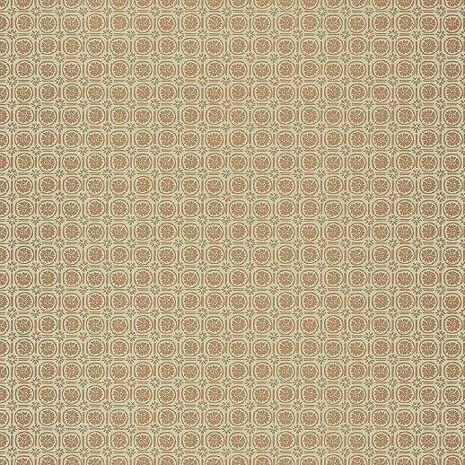 Bézs-barna orientális virágmintás vlies tapéta