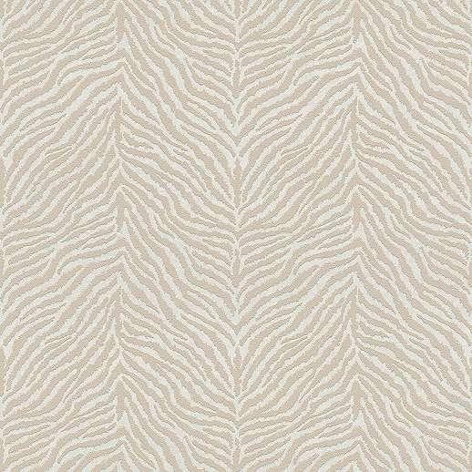 Bézs dekor tapéta zebra csíkos mintával