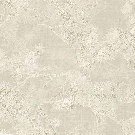 Bézs enyhén metál arany fényű absztrakt faág mintás vlies dekor tapéta