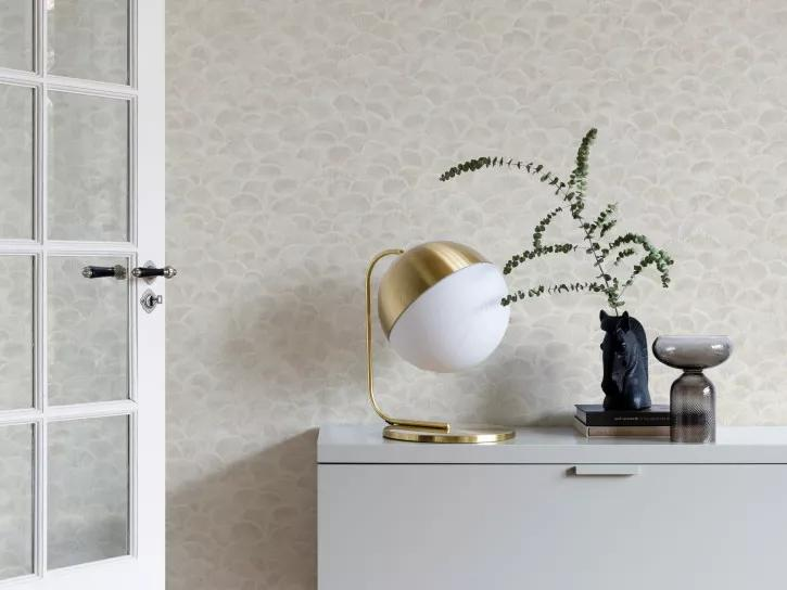 Bézs kagyló mintás vlies design tapéta
