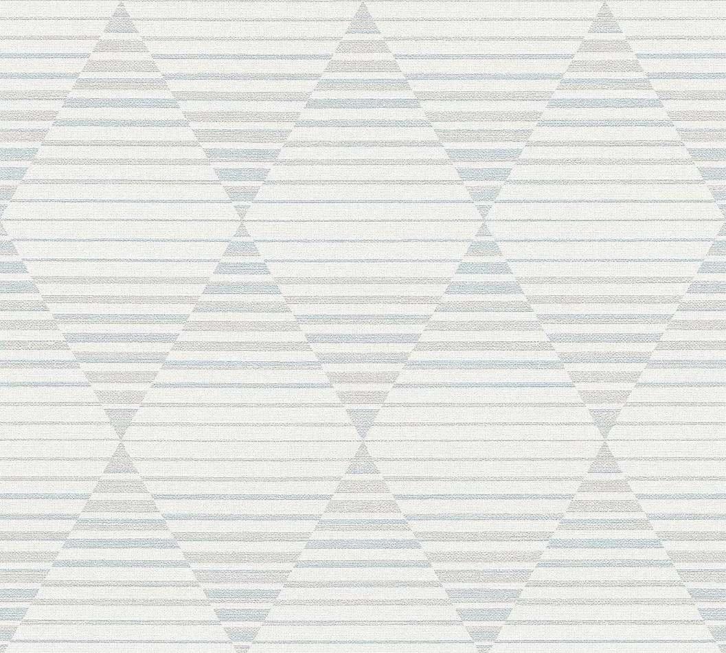 Bézs, kék modern geometrikus mintás vlies tapéta