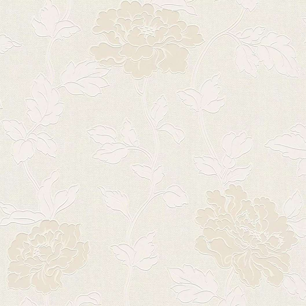 Bézs klasszikus stílusú virágmintás taptéa