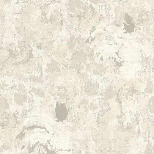 Bézs-krém akvarell hatású virágmintás romantikus hangulatú tapéta