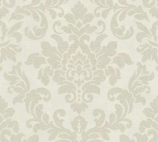 Bézs-krém klasszikus barokk mintás vlies tapéta