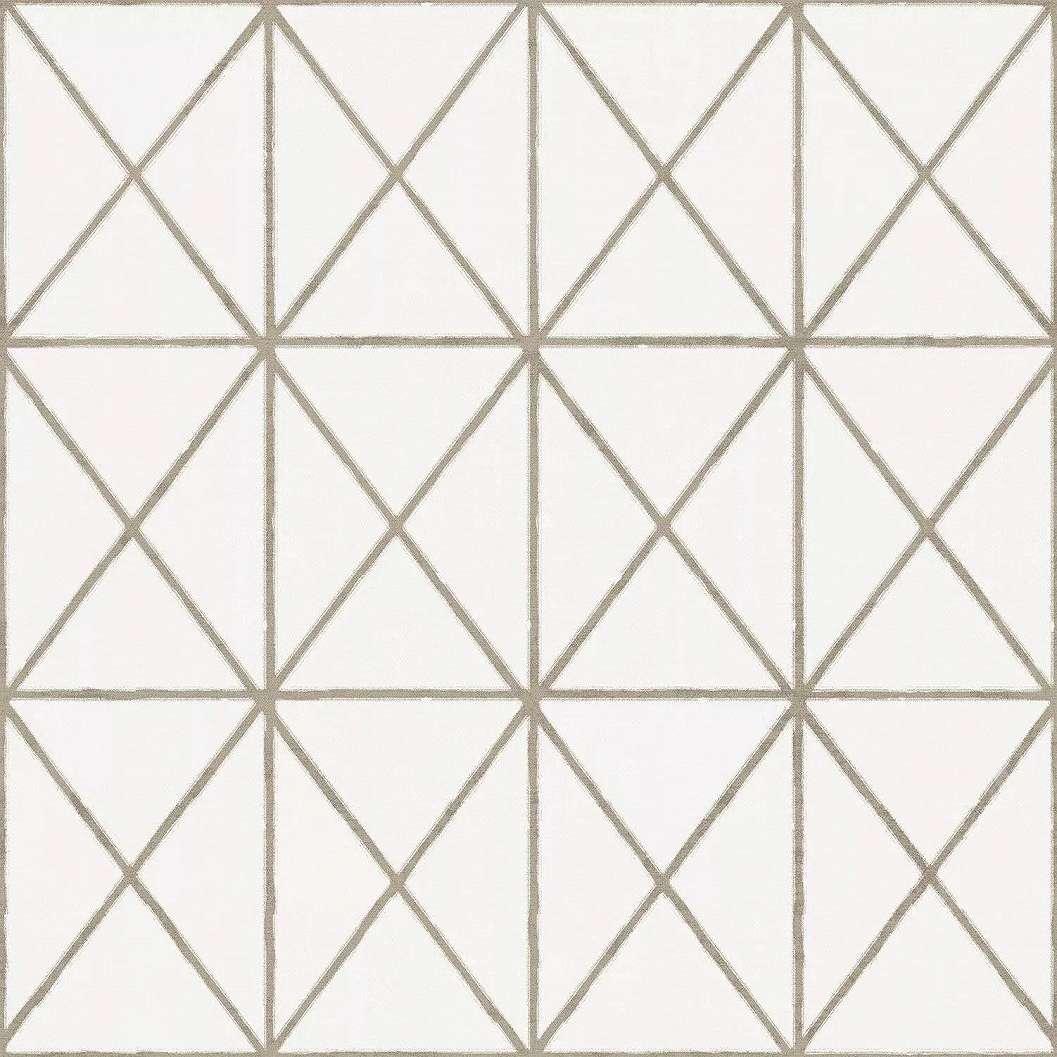 Bézs modern dekor tapéta háromszög geometrikus mintával