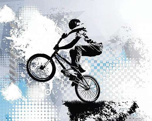 BMX bicikli mintás fali poszter tini szobába