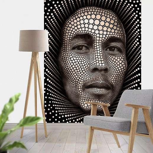 Bob Marley fali poszter modern stílusban