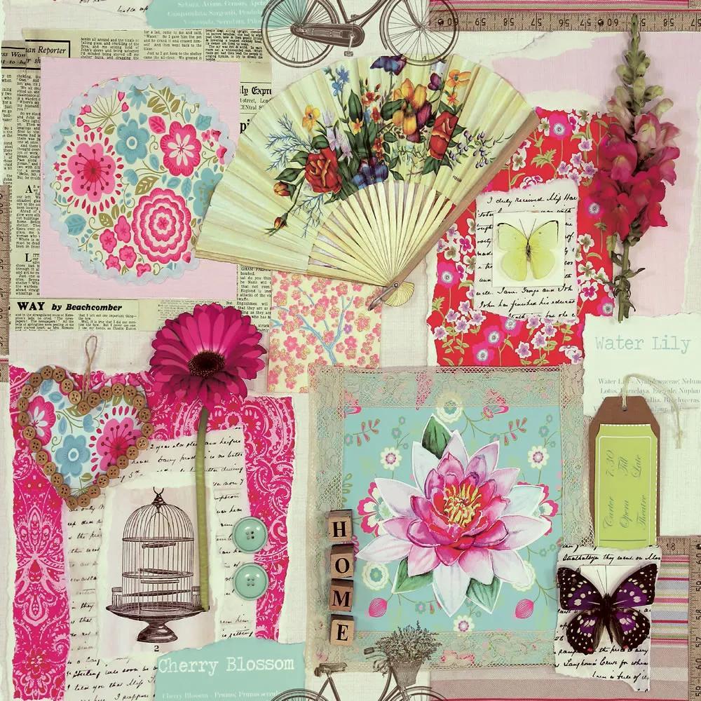 Bohém dekor tapéta romantikus glamour stílusban rózsaszín színvilágban