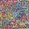 Bohém színes téglamintás tapéta gyerekszobába