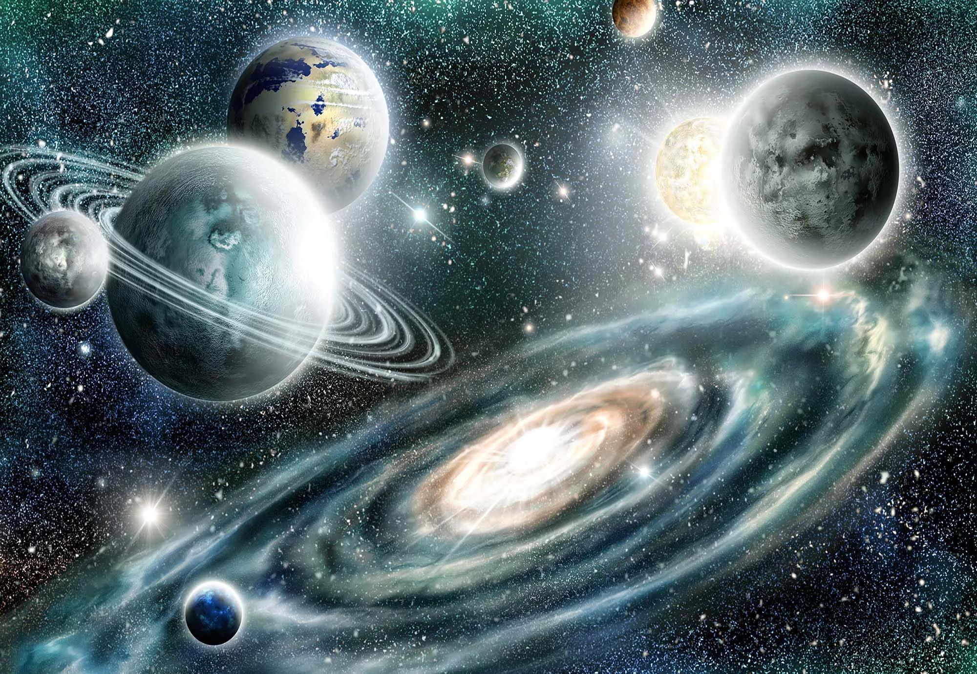 Bolygók a világűrben fali poszter
