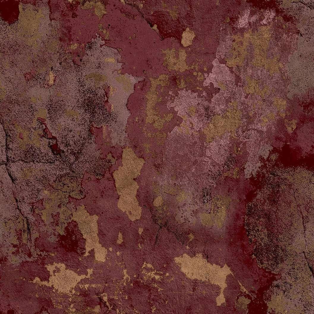 Bordó arany vinyl luxus tapéta antik vakolat hatással