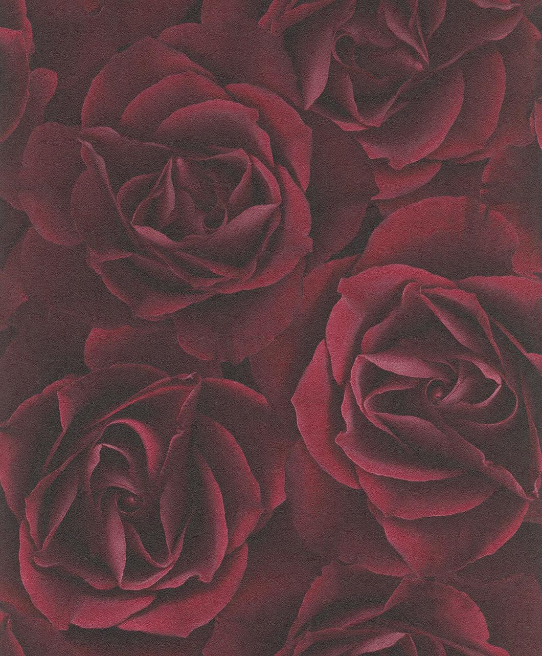 Bordó rózsás tapéta