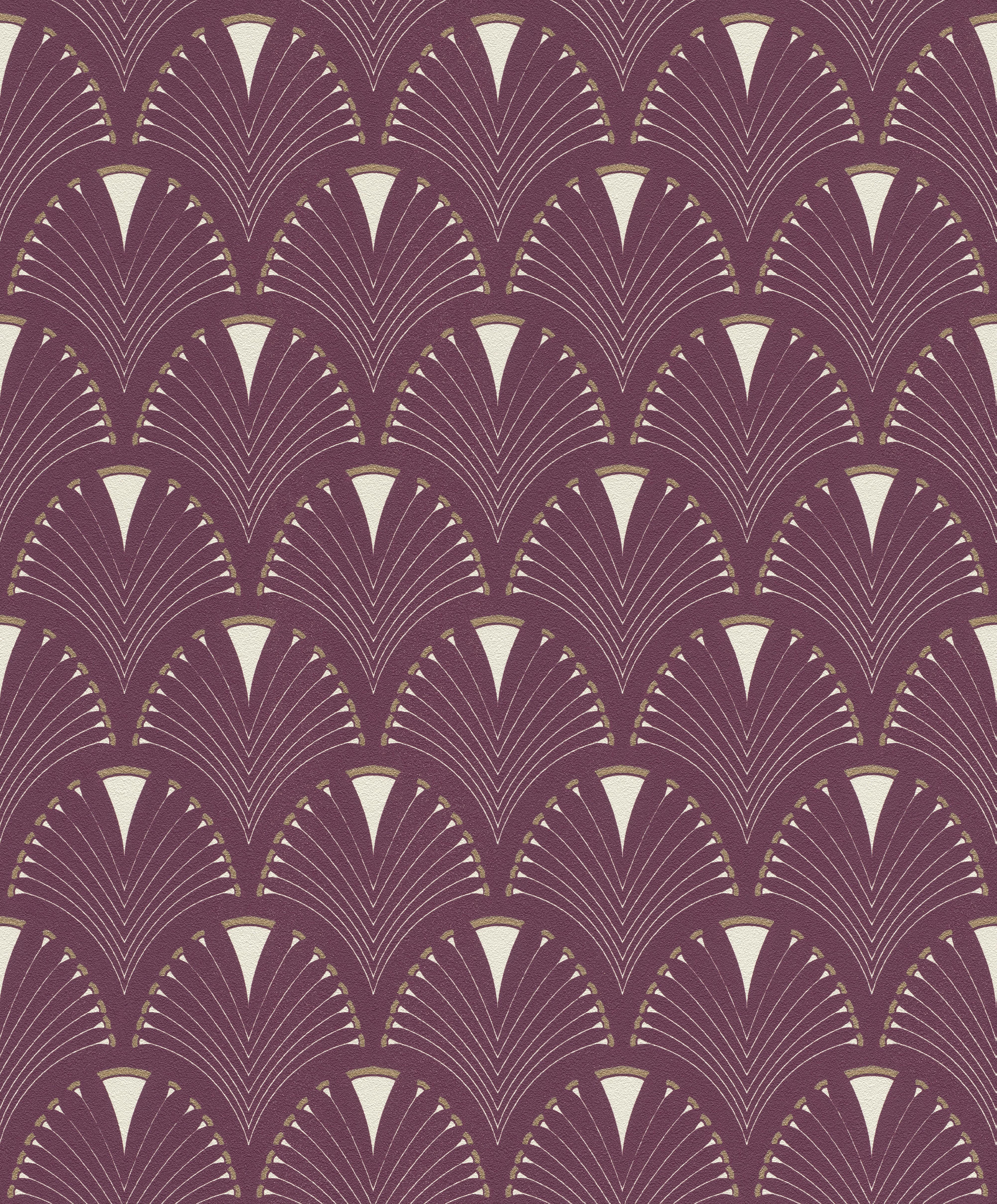 Bordós-lilás art deco hatású tapéta