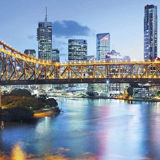Brisbane városi fali poszter
