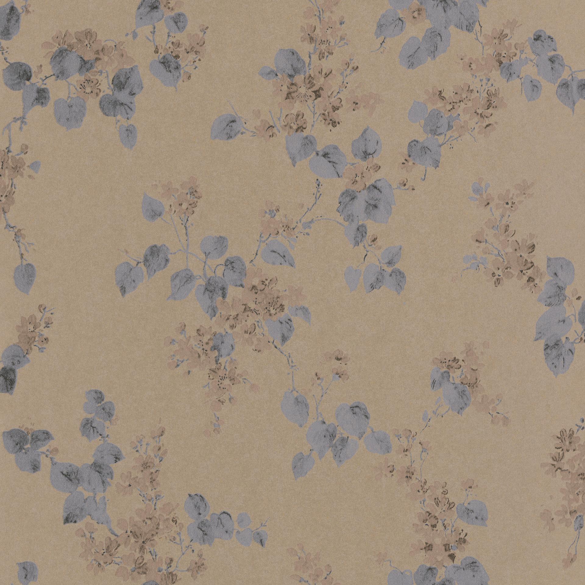 Bronz-barna-antracit virág motívum mintás tapéta
