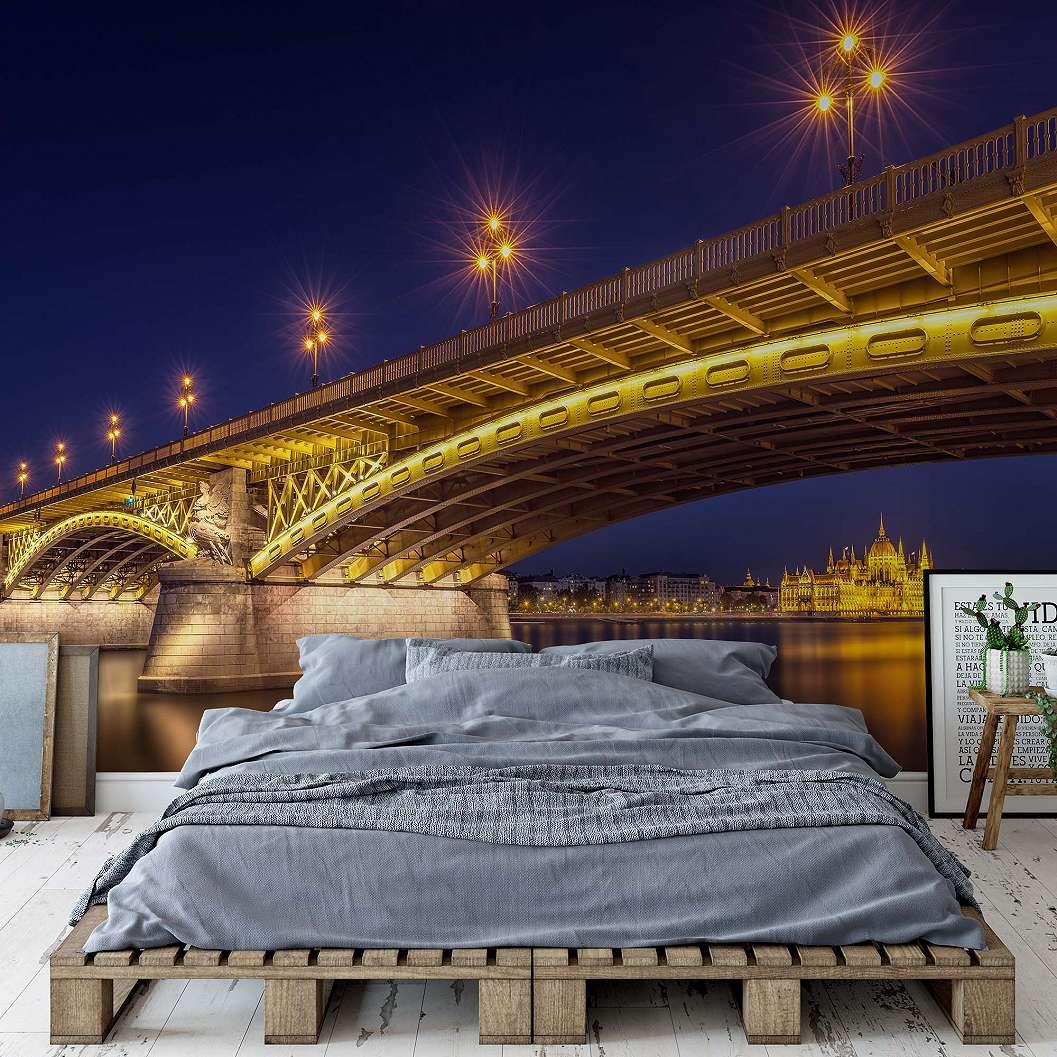 Budapest éjszakai fényei fali poszter