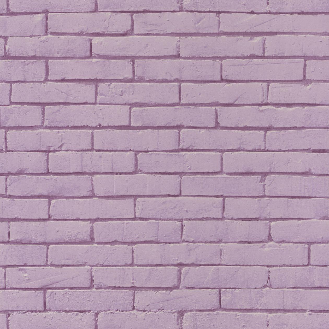 Caselio mályva színű tégla mintás gyerek tapéta