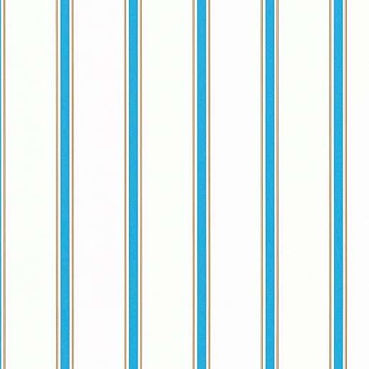 Csíkos mintás gyerektapéta kék barna csíkos mintával