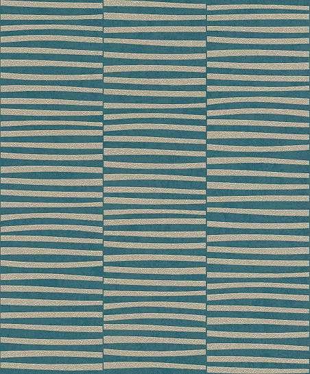 Csíkos mintás modern vlies design tapéta türkizkék színben
