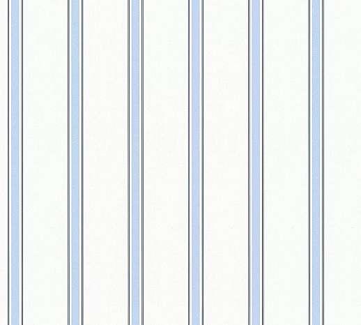 Csíkos mintás papír gyerektapéta kék-fehér csíkos mintával
