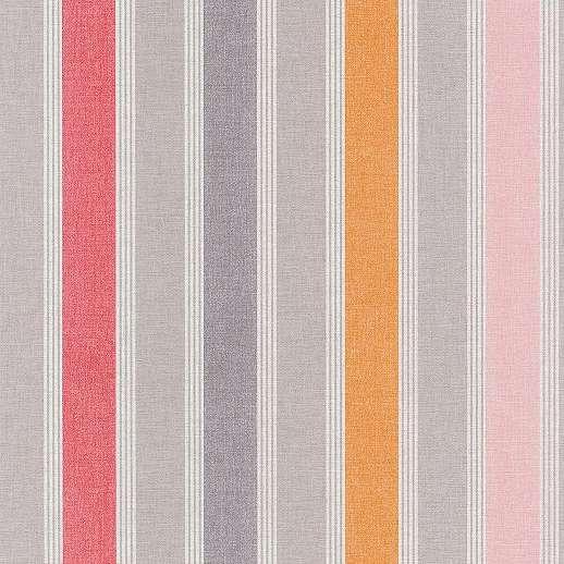 Csíkos mintás reto tapéta piros színvilágban
