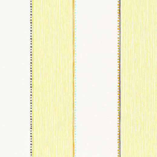 Csíkos mintás vlies gyerek tapéta zöld narancs színekkel
