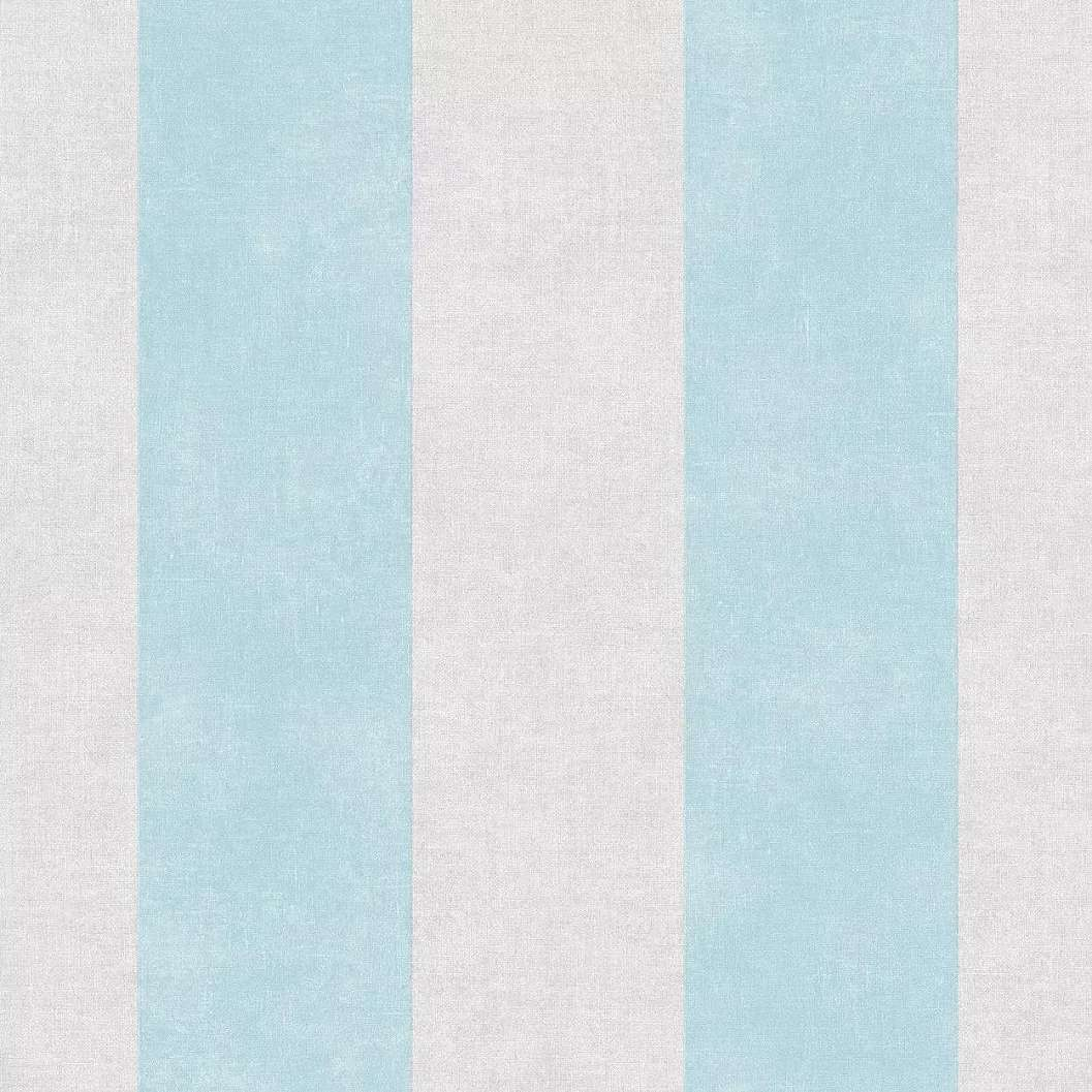 Csíkos mintás vlies tapéta kék szürke csíkos mintával