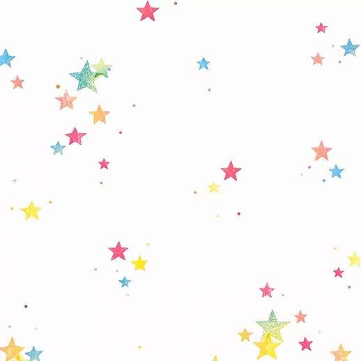 Csillag mintás gyerektapéta sokszínű csillag mintával
