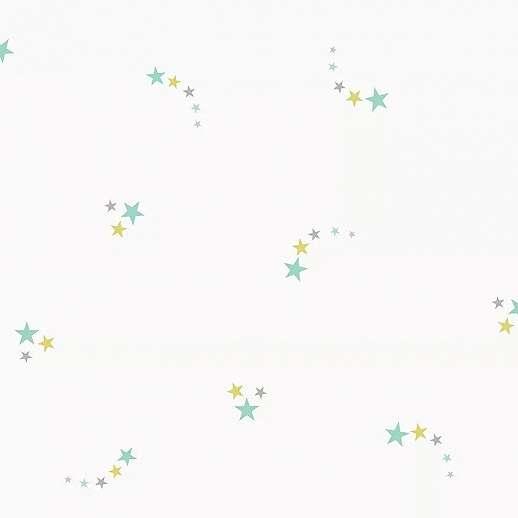 Csillag mintás gyerektapéta türkiz színű csillag mintákkal