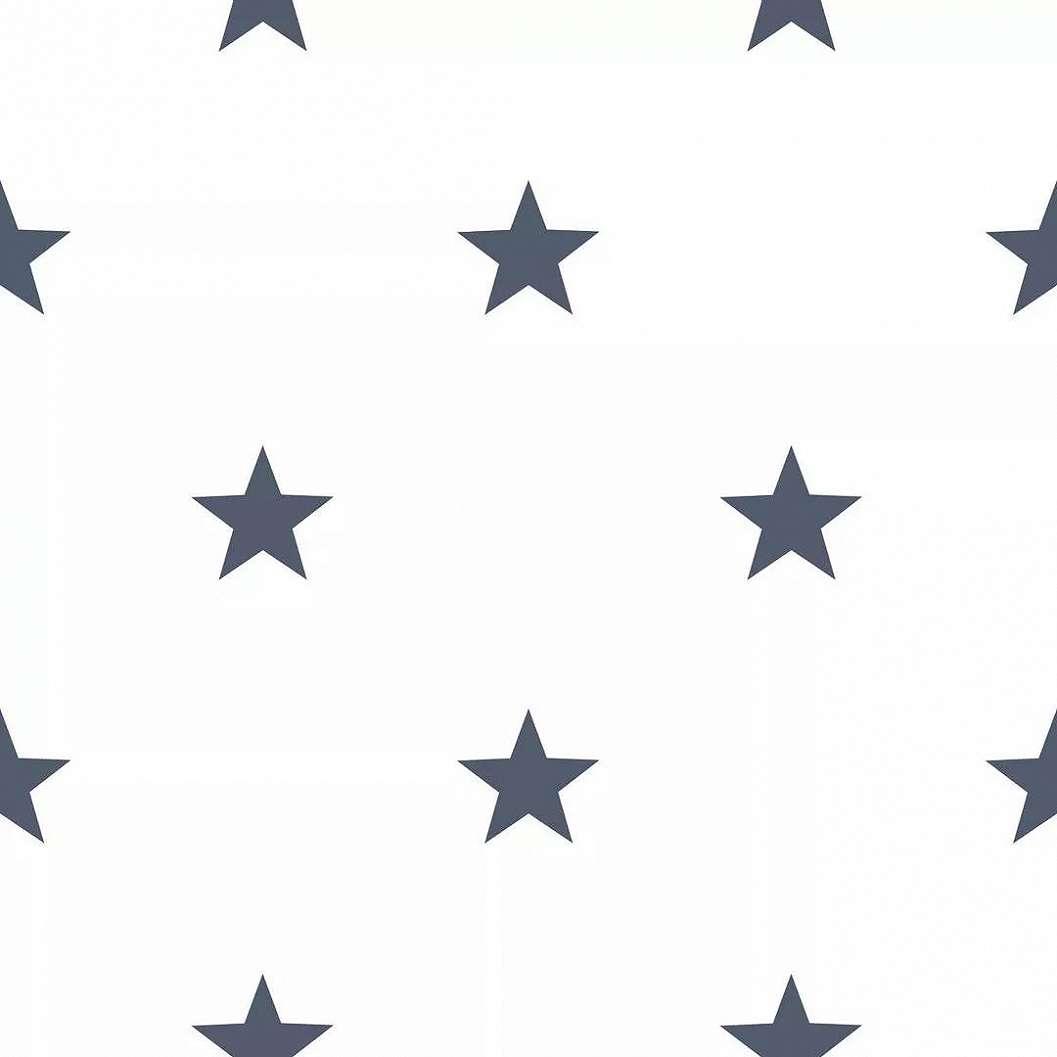 Csillag mintás vlies tapéta kék csillag mintával