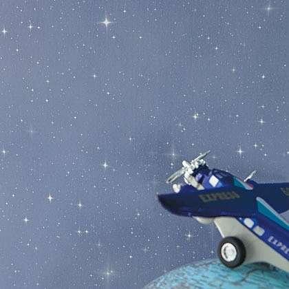 Csillagos égbolt kék színű gyerek tapéta