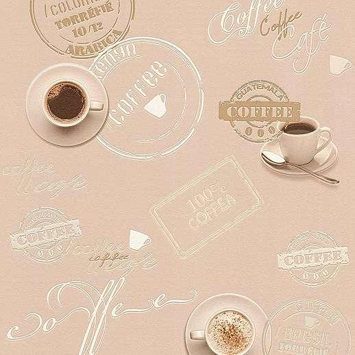 Dekor tapéta konyhába étkezőbe kávé mintával
