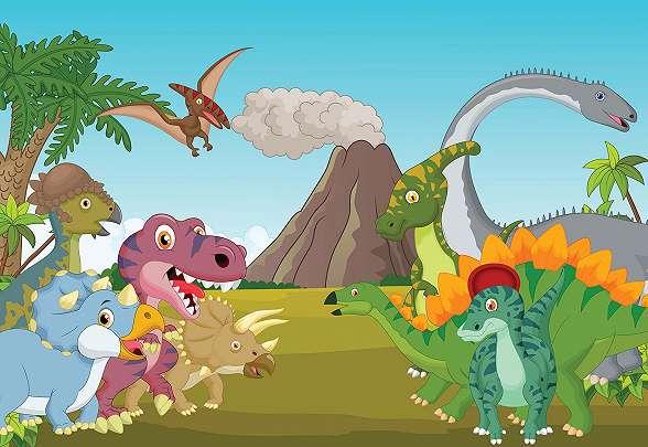 Dinószaurusz fali poszter gyerekszobába