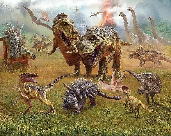 Dinoszaurusz mintás gyerekszobai fali poszter