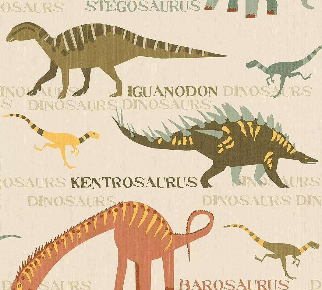 Dinoszaurusz mintás gyerektapéta