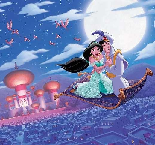 Disney Aladin és Jázmin hercegnő vlies fali poszter
