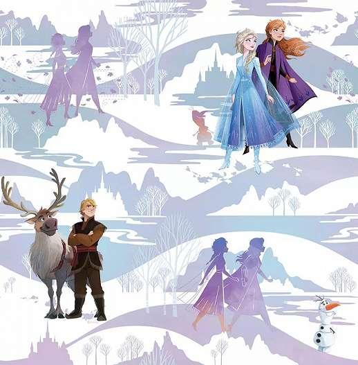 Disney frozen tapéta gyerekszobába