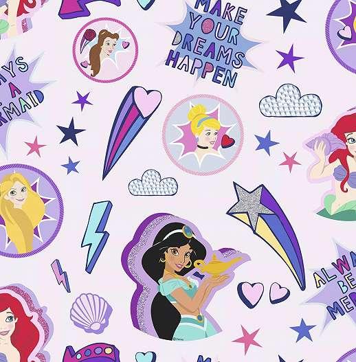 Disney gyerektapéta, Ariel, Jázimin hercegnő mintával