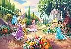 Disney hercegnők fali poszteren egy mesebeli kertben