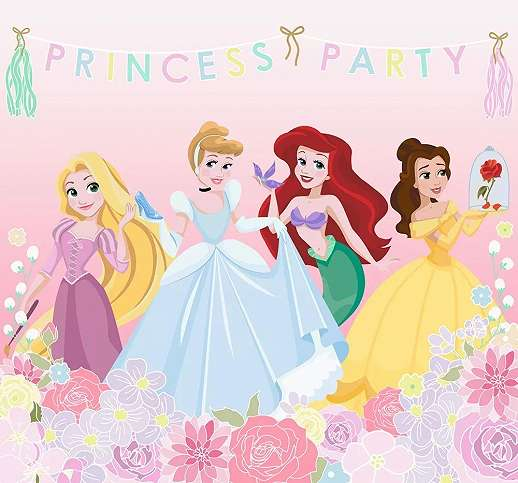 Disney hercegnők vlies gyerekszobai fali poszter